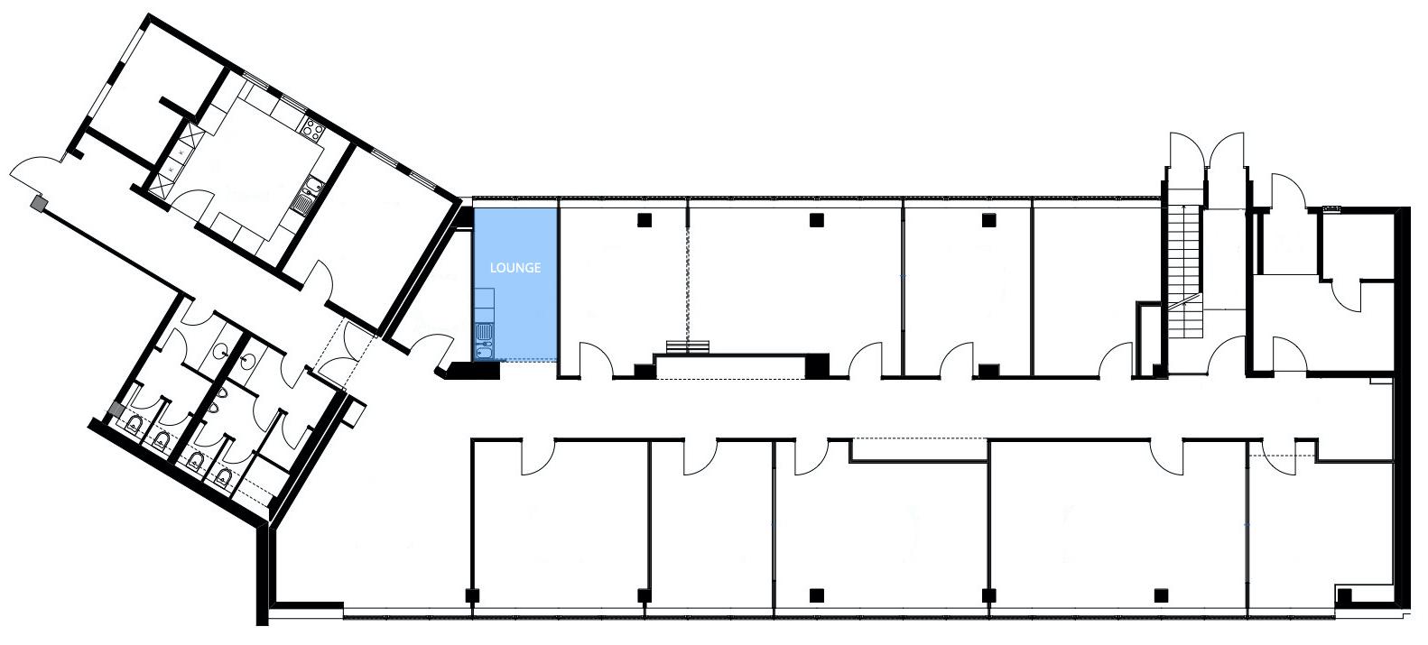 iTEMS Grundriss: Lounge
